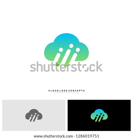 people cloud logo design