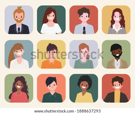 People collection. illustration vector flat design. Foto stock ©