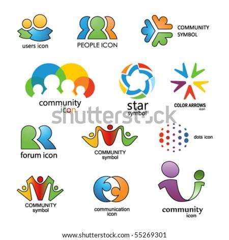 People. Community. Communication. Vector design elements 15