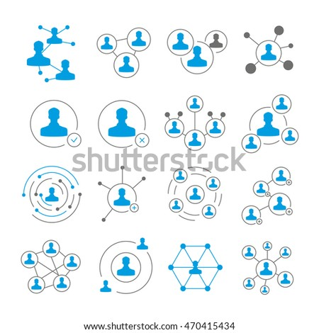 people connection icons and social network concept