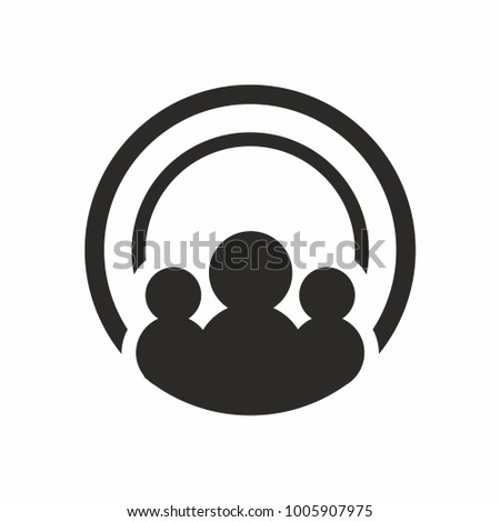 People creative logo design template with circle. Vector