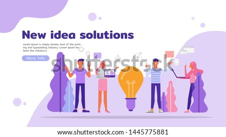 people creative thinking and share idea character vector design. For landing page, web, poster, banner, flyer and greeting card