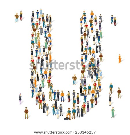 people crowd vector abc
