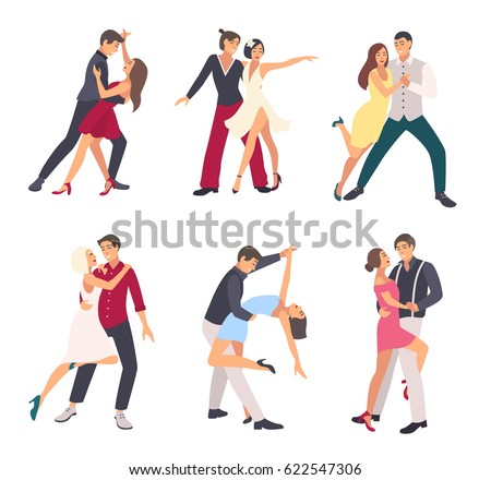 people dancing salsa couples