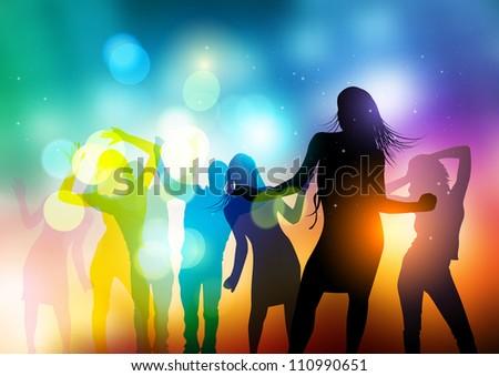 People Dancing Vector - vector illustration.