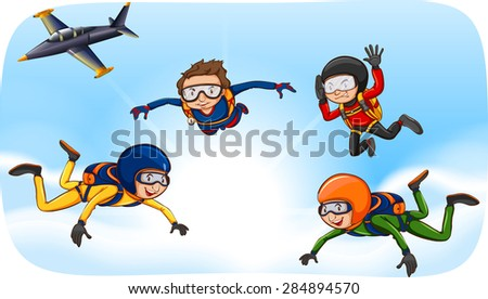 people doing skydiving in the