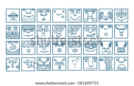 people face cartoon vector