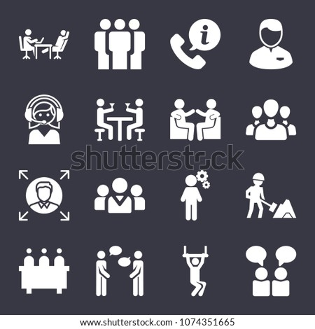 People filled vector icon set on dark blue background #1074351665
