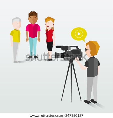 people filming using video