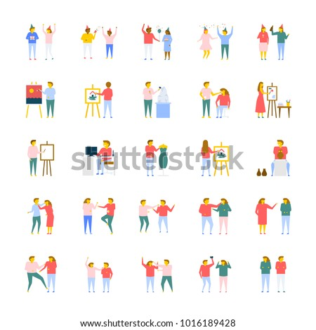 people flat vector icons