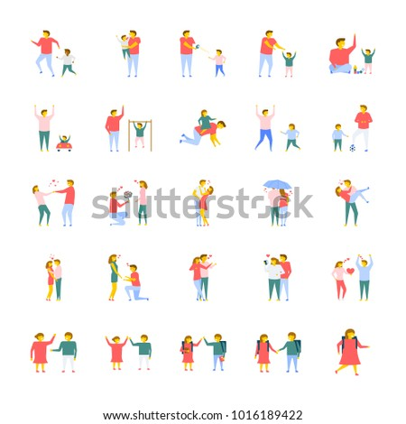 People Flat Vector Icons Pack