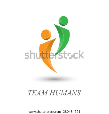 people from the team logo two