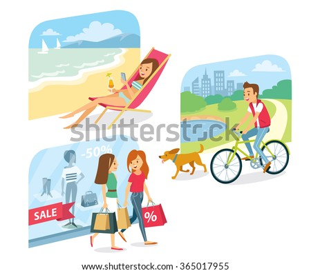 people go for shopping  relax