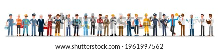 People group different job and occupations character vector design. Labor Day. Stock foto ©