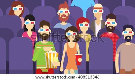 people group sit watching movie