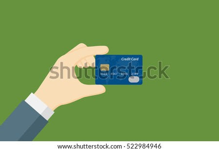 people hand holding a credit