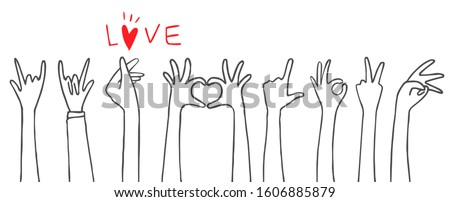 people hands in variety love