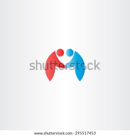 people handshake icon letter m