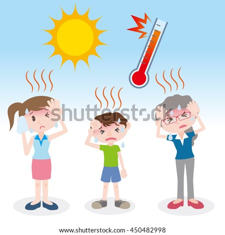people have heatstroke, image illustration