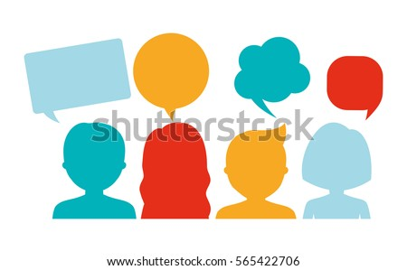 people having conversation icon