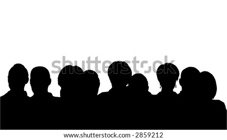people heads silhouette Stock photo ©