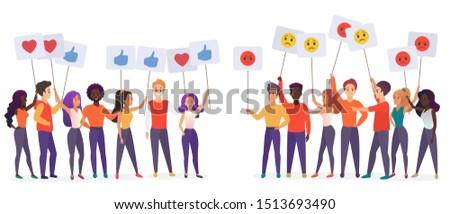 people holding emoji posters