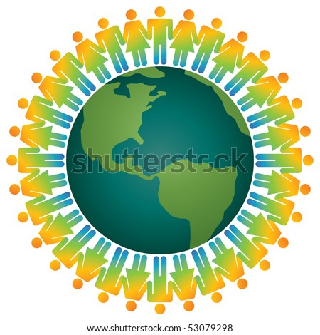 pictures of people holding hands around. stock vector : people holding