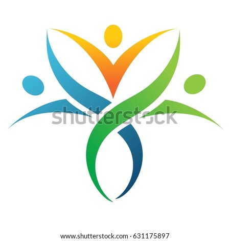 people holding hands.Logo management consultation meetings