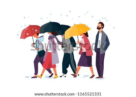 people holding umbrella