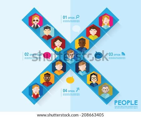 people icon conceptual vector