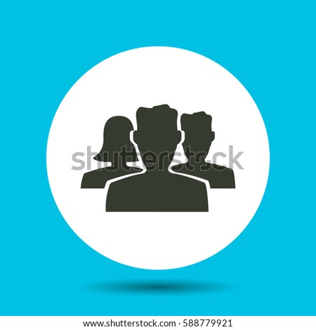 People icon. Flat vector illustration in black on white background.