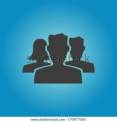 People icon. Flat vector illustration in black on white background. EPS 10