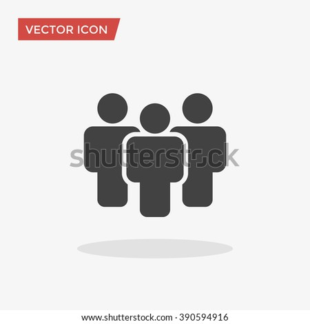People Icon in trendy flat style isolated on grey background. Crowd sign. Persons symbol for your web site design, logo, app, UI. Vector illustration, EPS10.