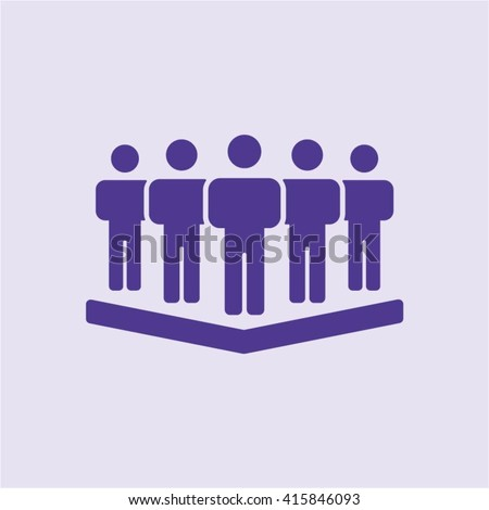 People  icon,  isolated. Flat  design.