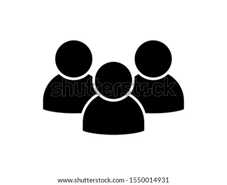 People icon isolated vector element. Social network symbol. People user person. Partnership icon. Corporate people icon. People crowd. EPS 10