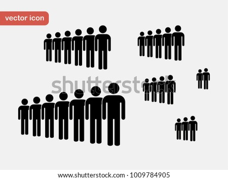 People icon set. Crown.