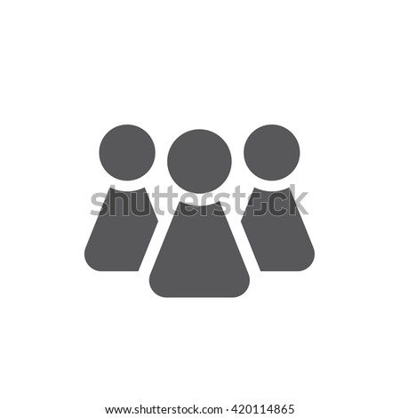 people icon. Social Icon. People logo template.