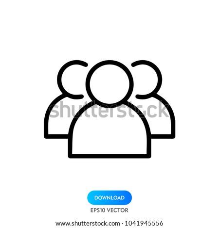 people icon, stock vector illustration flat design style