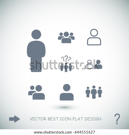 people icon, stock vector illustration flat design style