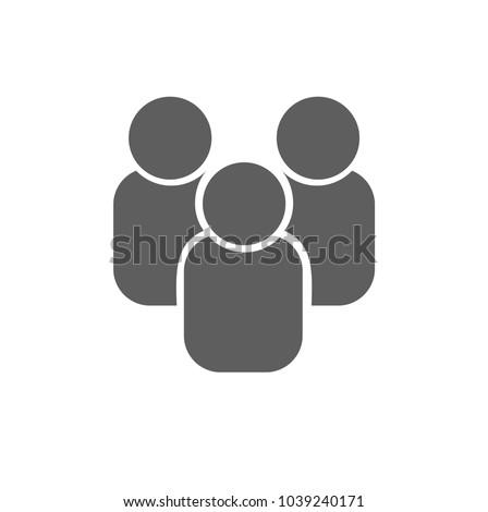 People icon,vector. Flat design.