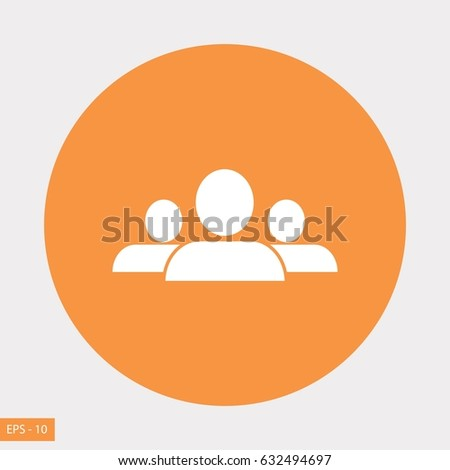 people icon vector, flat design best vector icon