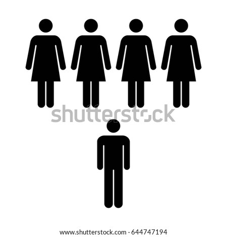 people icon   vector group of