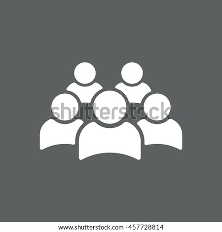 people Icon, vector, icon flat