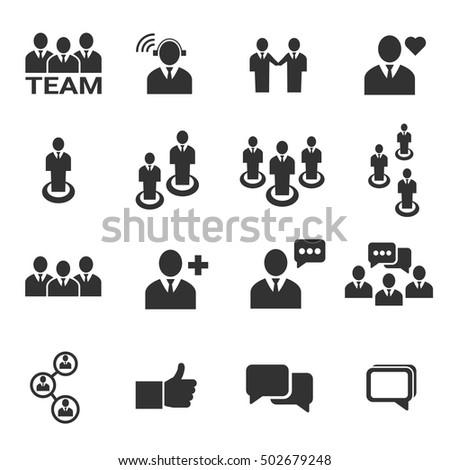 people icon - vector icon set