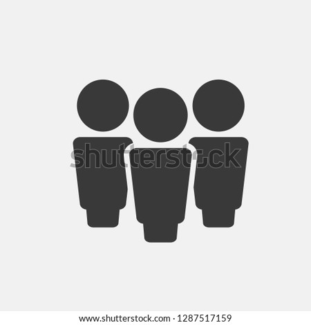 People icon vector isolated on gray background. People icon for web site, app and ui. Creative business concept, vector illustration