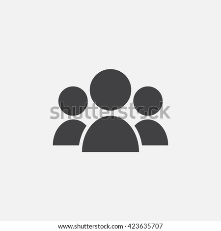 people icon vector, leader solid logo illustration, group pictogram isolated on white