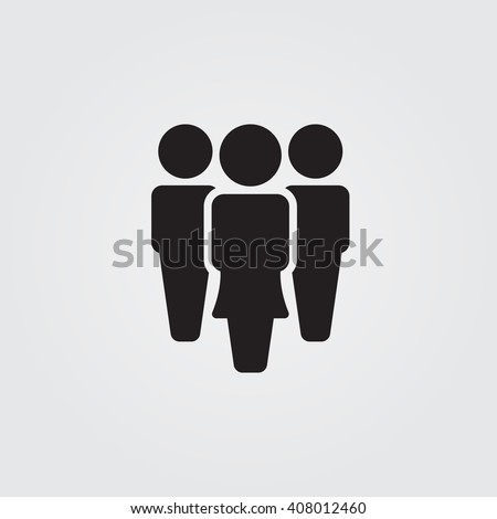 People icon vector, solid illustration, pictogram isolated on gray
