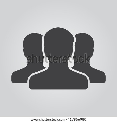 people icon vector  solid logo...