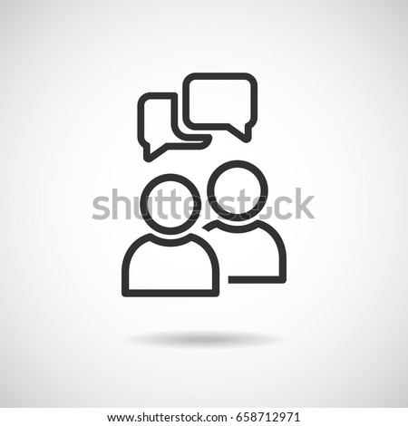 People Icon Vector,Text Box Bubble