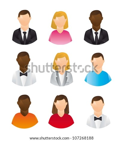 people icons isolated over white background. vector illustration